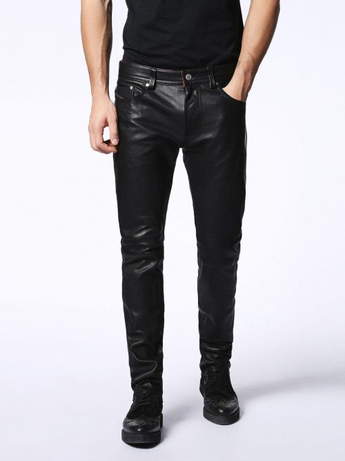 Diesel Chi United Ed Leather Pant Fashion Pants Free Shipping