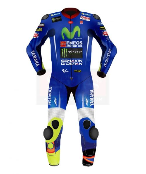 Valentino Rossi Suit 2018 Movistar Yamaha MotoGP Valentino Rossi Motogp Leather Suits Free Shipping