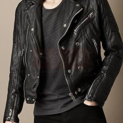 Burberry Clean-lined Leather Buy Jacket Fashion Collection Free Shipping