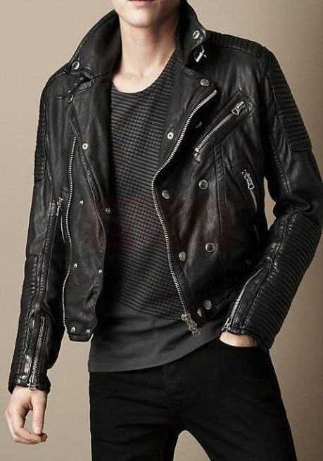Premium Quality Burberry Clean-lined Leather Jacket Fashion Collection Free Shipping