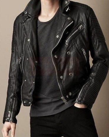 Burberry Lightweight Lambskin Men's Leathers Jackets Leather Fashion Jackets Free Shipping