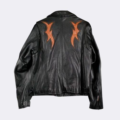 Harley Davidson Biker Leather Jacket Black Womens Motorbike Jackets Free Shipping