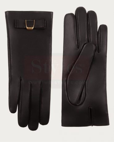 Bally Nappa Leather Gloves Blue Fashion Collection Free Shipping