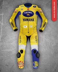 Valentino Rossi 2009 Leather Suit FIAT Yamaha Motogp MotoGp Collection Free Shipping