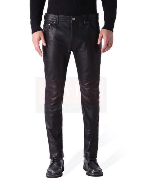 Diesel P Thavar Leather Pant – A+ Replica Fashion Collection Free Shipping