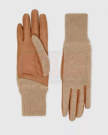 Burberry Cashmere Lined Lambskin Gloves Fashion Collection Free Shipping