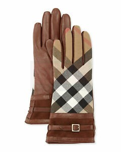 Burberry Biker Style Leather Gloves Fashion Collection Free Shipping
