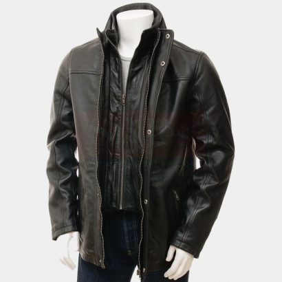 Famous Maker Thinsulate Lined Genuine Leather Topper Coat Fashion Coats Free Shipping