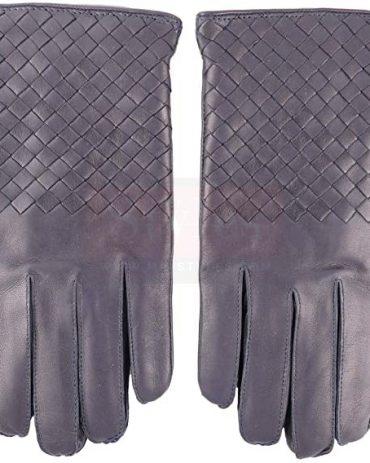 Bottega Veneta Dark Navy Nappa Glove Fashion Collection Free Shipping