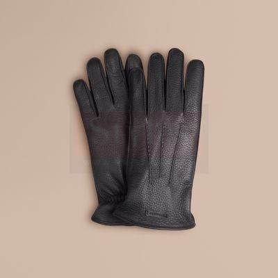 Burberry Fur Lined Deerskin Gloves Fashion Collection Free Shipping