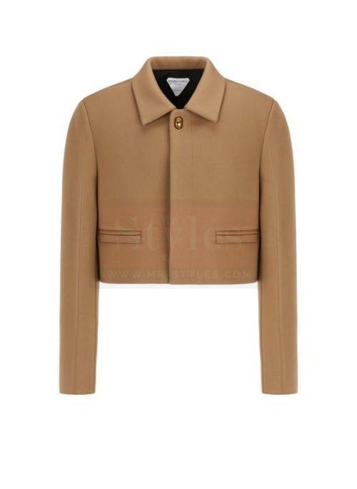 Bottega veneta Leather Short Coat Fashion Coats Free Shipping
