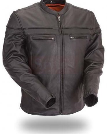 Sporty Scooter Mens Motorcycle Leather Jackets Motorcycle Collection Free Shipping