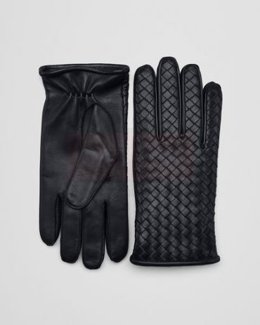Bottega Veneta Glove in dark leather new nappa Fashion Collection Free Shipping