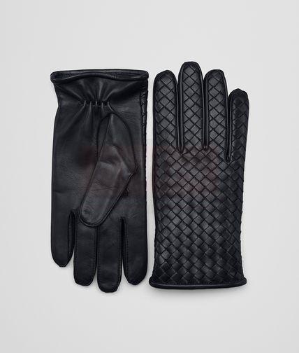 Bottega Veneta Glove in dark leather new nappa Fashion Collection Free Shipping