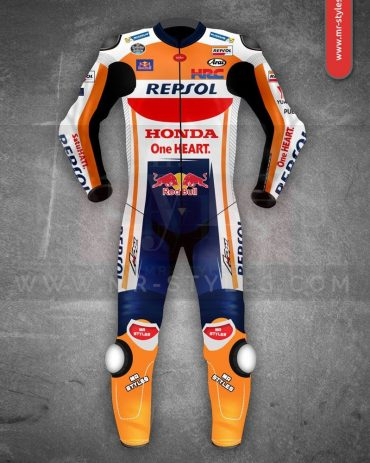 Marc Marquez Honda Repsol MotoGP 2018 Leather Suit MotoGp Collection Free Shipping