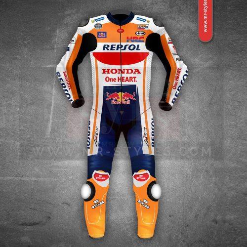 Marc Marquez Honda Repsol MotoGP 2018 Leather Suit MotoGp Collection Free Shipping