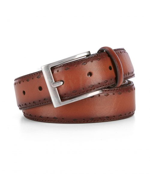 Cole haan Laser Perforated Belt Belts Free Shipping