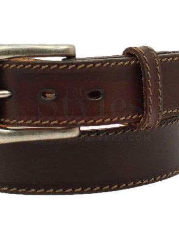 Wilsons Leather Brushed Metal Buckle Double Perforated Leather Belt Belts Free Shipping