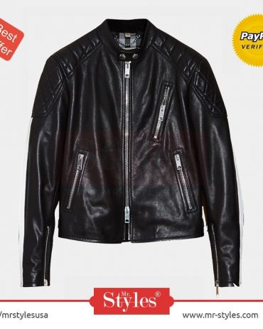Burberry Smooth Leather Jacket – A+ Replica Leather Fashion Jackets Free Shipping