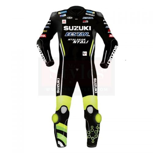 Andrea Iannone Suzuki MotoGP 2018 Leather Suit Black MotoGp Collection Free Shipping
