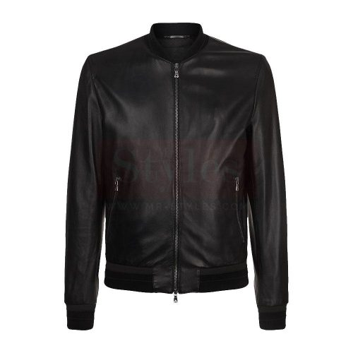 Wilsons Leather Contemporary Lamb Bomber Jacket with dragon embroidery Fashion Collection Free Shipping