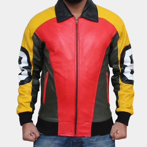8 Ball Cheap Leather Bomber Jacket Fashion Jackets Free Shipping