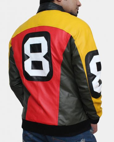 8 Ball Cheap Leather Bomber Jacket Fashion Collection Free Shipping