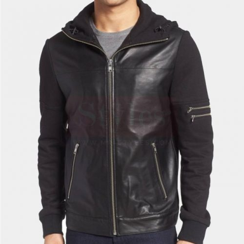 la Marquee leather &Cole Haan Leather Bomber Jacket Fashion Collection Free Shipping