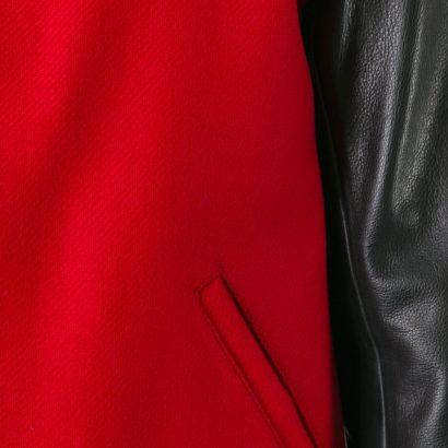 Ami Alexandre Mattiussi Bimaterial Leather Flight Bomber Jacket Fashion Collection Free Shipping