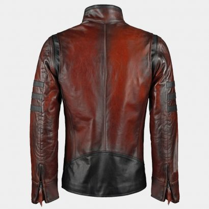 Antiqued Italian Leather Jacket red Fashion Collection Free Shipping