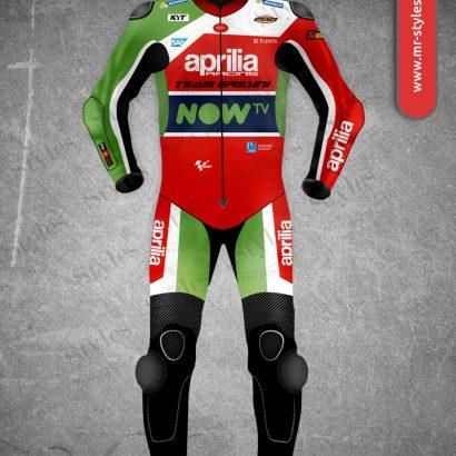 Aleix Espargaro Leather Suit 2017 Aprilia Team Gresini Motogp MotoGp Collection Free Shipping