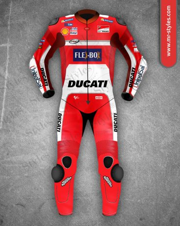 Andrea Dovizioso Suit 2017 Race Ducati Team MotoGP MotoGp Suits 2010-2017 Free Shipping
