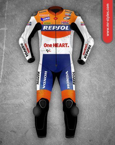 Andrea Dovizioso Suit 2010 Repsol Honda MotoGP Andrea Dovizioso Suits Free Shipping