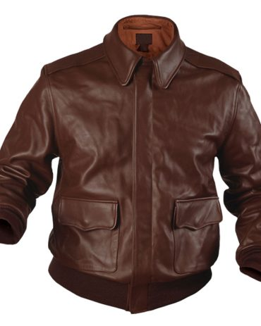 Authentic A2 Flight Bomber Style Leather Jacket Fashion Jackets Free Shipping