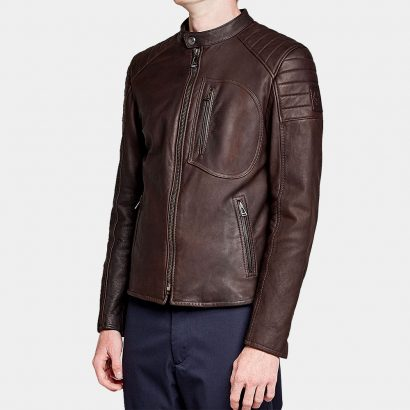 Mens Leather Wittering' jacket from Belstaff Fashion Collection Free Shipping