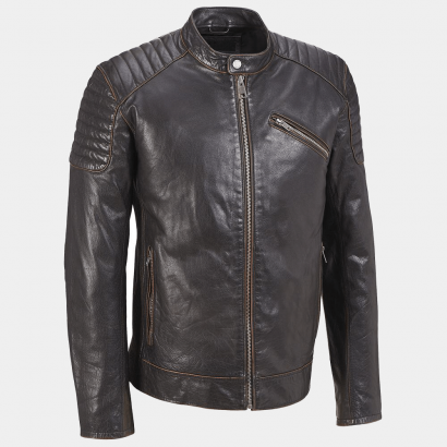 Rivet Quilted Mens Motorcycle Leather Jackets Motorcycle Collection Free Shipping