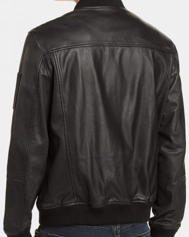 Blank Nyc Authentic Leather Bomber Jacket Fashion Collection Free Shipping