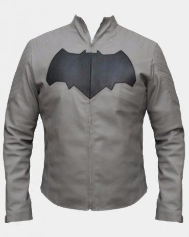 Batman Grey Jacket Celebrities Leather Jackets Free Shipping