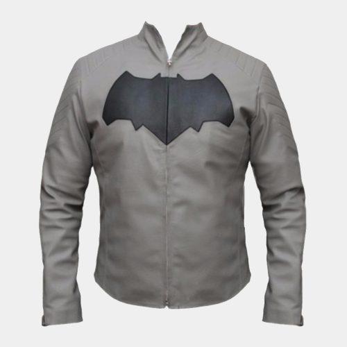 Batman Grey Jacket Superhero Leather Jackets Free Shipping