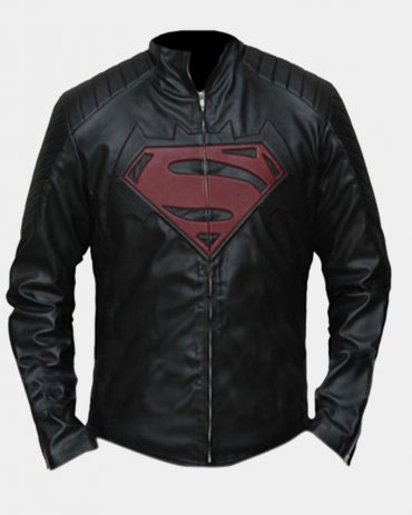 Batman Vs Superman Dawn Of Justice Black Leather Jacket Fashion Collection Free Shipping