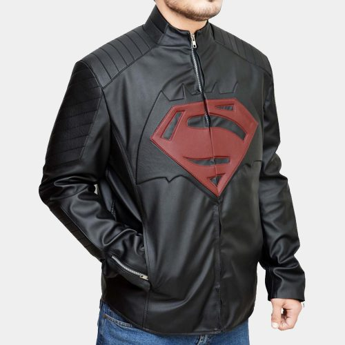 Batman Vs Superman Red logo Jacket Fashion Collection Free Shipping
