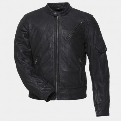 Black Erebus Leather Motorcycle Jacket MotoGP Leather Jackets Free Shipping