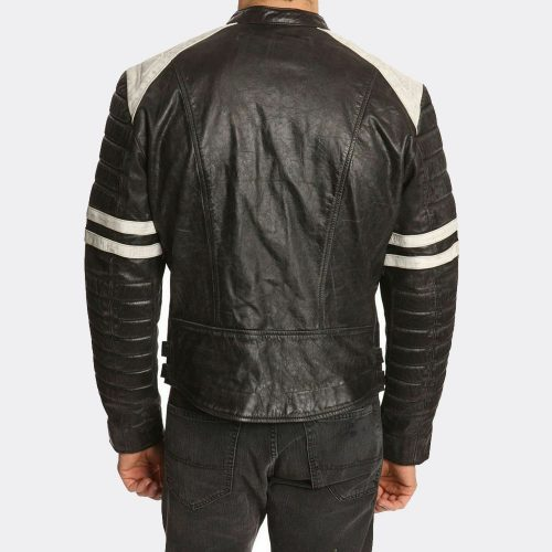 New Fashion Slim Fit Style Biker Black Leather Jacket Mens Fashion Collection Free Shipping