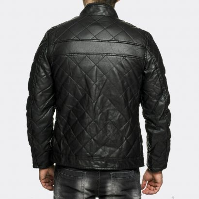 Fashion Slim Fit Biker Motorcycle Leather Jackets Mens Black Fashion Collection Free Shipping