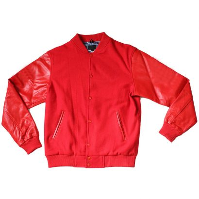 Black Panther Varsity Jacket in Tonal Red Fashion Collection Free Shipping