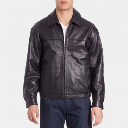 Leather Bomber Jacket-Boston Harbour Replica Fashion Collection Free Shipping