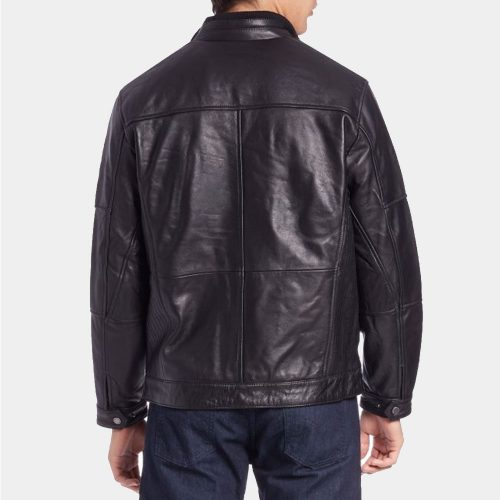 Boston Harbour leather bomber Jacket Fashion Collection Free Shipping