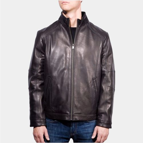 Boston Harbour Smooth Lamb Mens Leather Bomber Jacket For Sale Fashion Collection Free Shipping