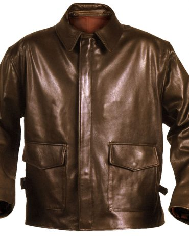 Brown Mens Brown Leather Bomber Jacket Fashion Jackets Free Shipping