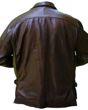 Brown Indy Leather Jacket Fashion Collection Free Shipping